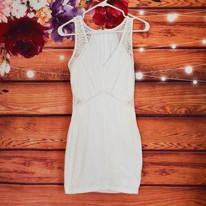 Bebe White Lace Mini Dress